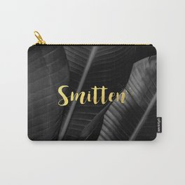Smitten gold - bw banana leaf Carry-All Pouch