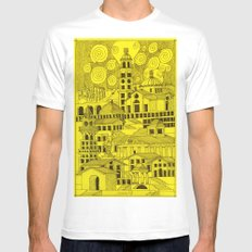 architectural fantasy_5 White Mens Fitted Tee MEDIUM