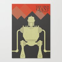 iron giant Canvas Prints featuring The Iron Giant  by Stefanoreves
