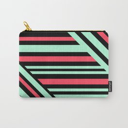 Geometric pattern. Striped triangles 6 Carry-All Pouch