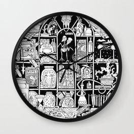 Cabinet of Curiosities (BW) Wall Clock