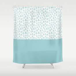 Triangles Mint Shower Curtain