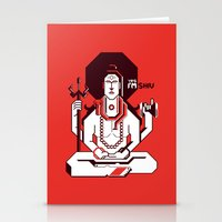 shiva Stationery Cards featuring Shiva by Tshirtbaba