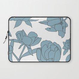 Roses in Blue Laptop Sleeve