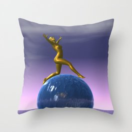 look up to the stars Throw Pillow