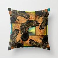 raven Throw Pillows featuring Raven by Alohalani