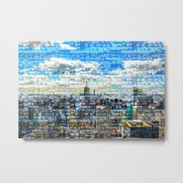 New York City Mosaic Metal Print