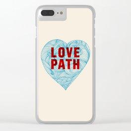 Love Path Clear iPhone Case