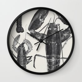 Vintage Lobster Photograph (1911) Wall Clock