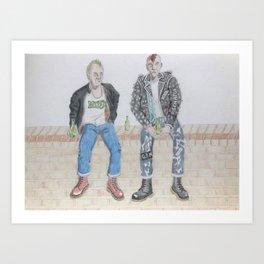 Punks On A Wall Art Print