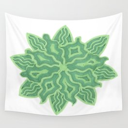 Emerald Flower Wall Tapestry