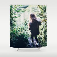 wander Shower Curtains featuring Wander by Johnny Frazer