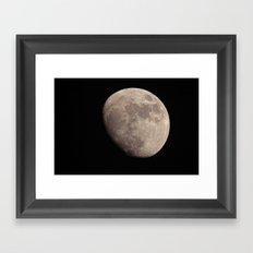 moon set 01 Framed Art Print