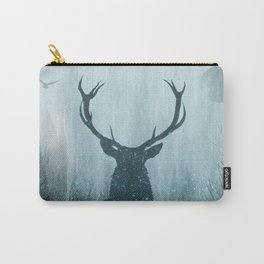 Snow Stag Silhouette Carry-All Pouch