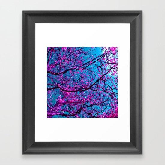purple tree XV Framed Art Print