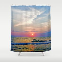 Naples Florida sunset on the Gulf of Mexico Shower Curtain