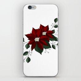 Nochebuena Poinsettia iPhone Skin