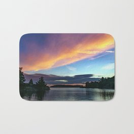 Sunset Sky on Lake Bath Mat
