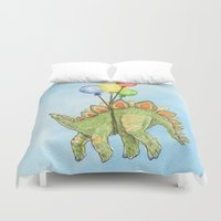 dinosaurs Duvet Covers featuring Dinosaurs 2 by Hannah Botma