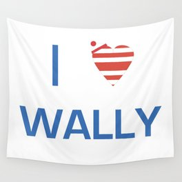 I Heart Wally Wall Tapestry