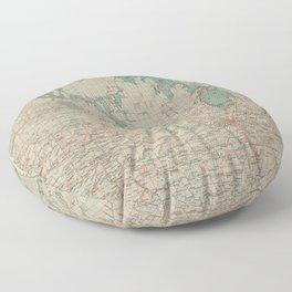 Vintage Map of Manitoba (1915) Floor Pillow