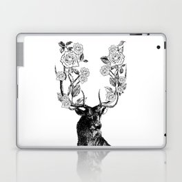 The Stag and Roses | Black and White Laptop & iPad Skin