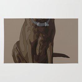 Dog Mom Chocolate Brown Labrador Retriever Rug