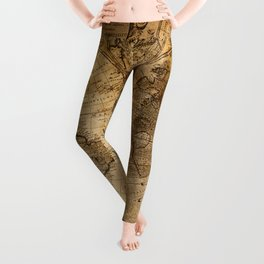 World Map 1746 Leggings