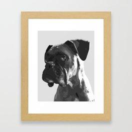 Boxer Graphic Framed Art Print
