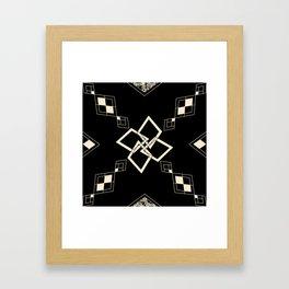Black and White Tile Framed Art Print