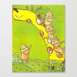 giraffe slide Canvas Print