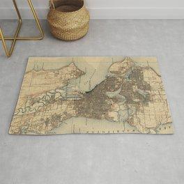 Vintage Map of Seattle Washington (1908) 2 Rug