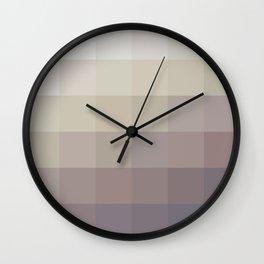 Mosaic Warm Neutral Wall Clock