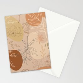 Orange Abstract Desert Pattern Stationery Cards
