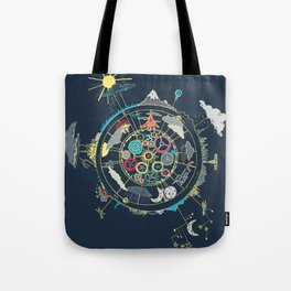 Running Like Clockworld Tote Bag