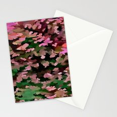 Foliage Abstract In Pink, Peach and Green Stationery Cards