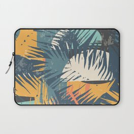 ABSTRACT TROPICAL SUNSET with palm leaves Laptop Sleeve