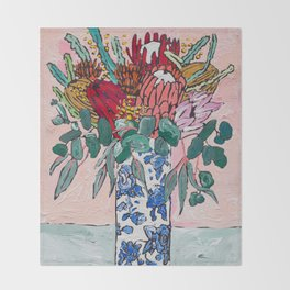 Australian Native Bouquet of Flowers after Matisse Throw Blanket