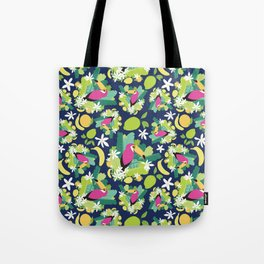 Toucans Everywhere - Blue Tote Bag