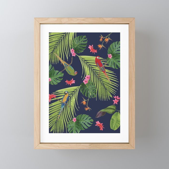 A Day Trip to the Belmont Estate #2, Parrot Paradise Framed Mini Art Print