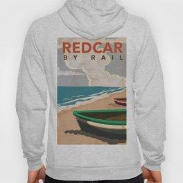 Redcar by rail - British railway travel poster Hoody