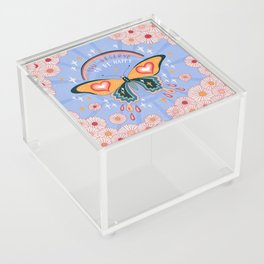 You deserve to be happy Acrylic Box