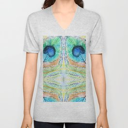 Peacok Feather Abstract Unisex V-Neck