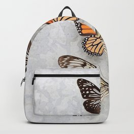 Three Speckled Butterflies Backpack