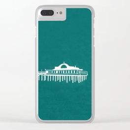 Seaside Pier in Turquoise Clear iPhone Case