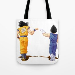 Fan Art Goku and Vegeta friends Tote Bag