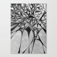Panic with White Scribbles Canvas Print