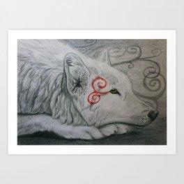 Wolf Spiral Art Print