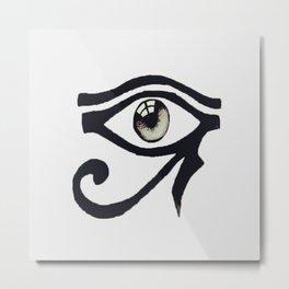 Chinese Alphabet Eye Metal Print