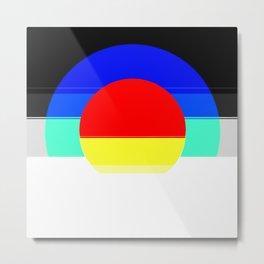 Colorful Mod Abstract Metal Print